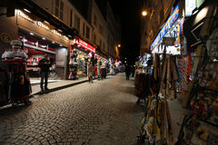 Montmartre by night. Souvenirs. Paris Royalty Free Stock Photo