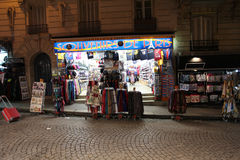 Montmartre by night. Souvenirs. Paris Royalty Free Stock Photos