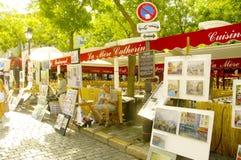 Montmartre och dess målare Arkivbild