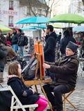 Montmartre painters, Paris Royalty Free Stock Images