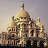 Montmartre París Francia del couer del sacre de la basílica Fotos de archivo libres de regalías