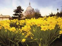 Montmartre París Francia del couer del sacre de la basílica Imagen de archivo