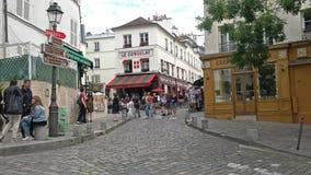 Montmartre a Parigi stock footage