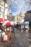 Montmartre in Parijs Stock Afbeelding