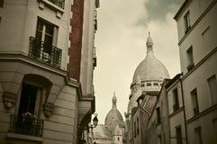 Montmartre in Parijs, Frankrijk Stock Afbeeldingen