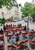 montmartre paris кафа Стоковые Фотографии RF