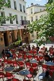 montmartre paris кафа Стоковое Фото