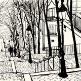 Montmartre Paris royaltyfri illustrationer