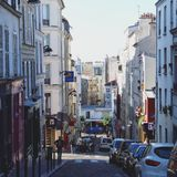 Montmartre. In Paris royalty free stock photo