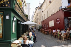 Montmartre in Paris. Royalty Free Stock Photos