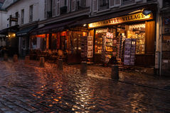 Montmartre, Paris. Montmartre is a hill in the north of Paris, France. It is 130 metres high and gives its name to the surrounding district, in the 18th Royalty Free Stock Images