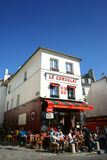 Montmartre Paris Restaurant Bistro Stock Photography