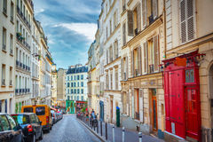 Montmartre in Paris. Street in Montmartre Paris, France Royalty Free Stock Photo