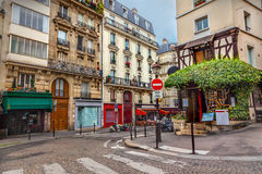 Montmartre in Paris. Street in Montmartre Paris, France Stock Photos