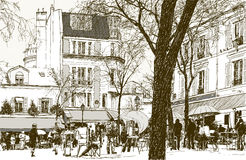Montmartre in Paris under snow Royalty Free Stock Image