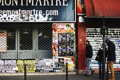 Montmartre. The photograph of streetart and people in Montmartre, Paris Royalty Free Stock Images