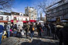 Montmartre, Place  du Tertre Stock Image