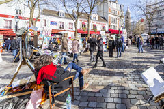 Montmartre, Place  du Tertre Royalty Free Stock Photography