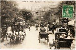 Montmartre Postkarte Stockfotos