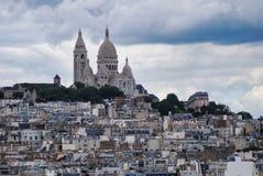 """Montmartre, Sacré-CÅ""""ur, Paris, city, sky, town, urban area. Montmartre, Sacré-Cœur, Paris is city, urban area and cityscape. That marvel has sky stock photo"""