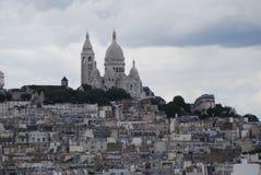 Montmartre, Sacré-Cœur, Paris, sky, city, town, tourist attraction. Montmartre, Sacré-Cœur, Paris is sky, tourist attraction and basilica. That marvel has Stock Images