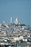 Montmartre with Sacred Heart Cathedral Royalty Free Stock Photography