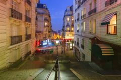 Montmartre schody, Paryż, Francja obraz stock