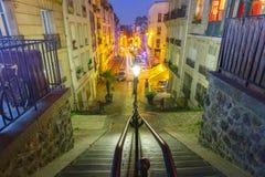 Montmartre schody, Paryż, Francja fotografia stock