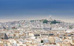 Montmartre skyline with Basilica Sacre Coeur. Stock Photography