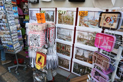 Montmartre Souvenir Display Stock Photography