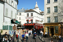 Montmartre in Spring Stock Images
