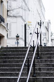 Stairs in Parisian Montmartre. A deserted stairs street in Montmartre stairs in Paris, France Royalty Free Stock Photos