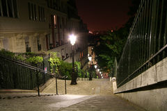 Montmartre stairway Royalty Free Stock Photography