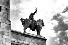 Montmartre. Statue of knight in Montmartre stock photo