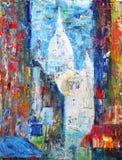 Montmartre-Straße im Paris, Frankreich Stockbilder