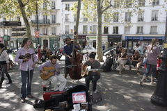 Montmartre street artists Stock Images
