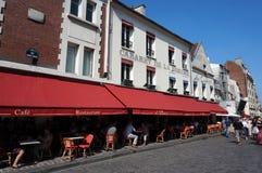 Montmartre Street in Paris France Stock Image