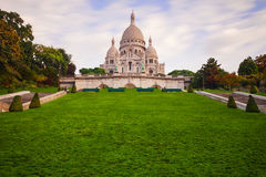 Montmartre at sunrise - Basilica Sacre Coeur Royalty Free Stock Photo