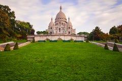 Montmartre at sunrise - Basilica Sacre Coeur Royalty Free Stock Photo