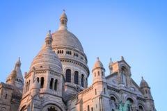 Montmartre tijdens de Zonsondergang Royalty-vrije Stock Foto