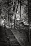 Montmartre trappa och basilika av den sakrala hjärtan, Paris Arkivbild