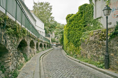 montmartre ulice Paryża Zdjęcie Stock