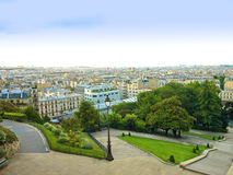 Montmartre - view of Paris Stock Images