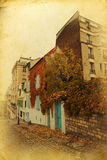Montmartre with vintage texture Royalty Free Stock Image