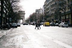 montmartreparis gator Fotografering för Bildbyråer