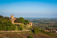 Montmelaskasteel, Beaujolais, Frankrijk Royalty-vrije Stock Fotografie