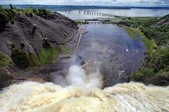 Montmorancy baja en Quebec, Canadá Imagen de archivo