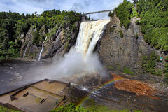 Montmorancy Falls in Quebec, Canada Stock Photography