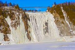 Montmorency падает в Квебек, Канаду Стоковая Фотография