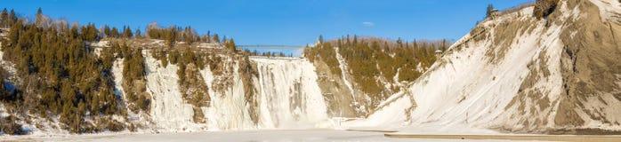 Montmorency падает в Квебек, Канаду Стоковые Фото